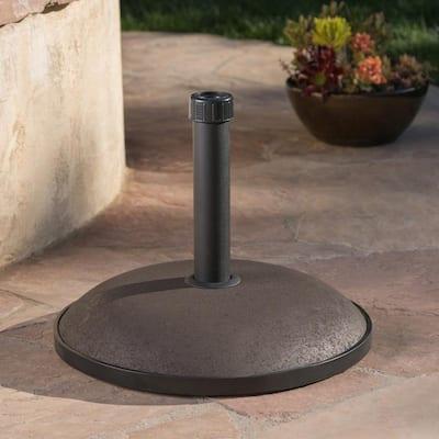 66 lbs. Edgar Concrete Patio Umbrella Base in Brown