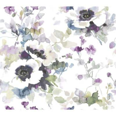 45 sq. ft. Garden Anemone Premium Peel And Stick Wallpaper