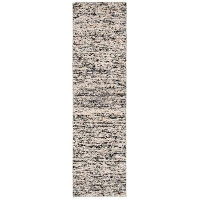 Natura Beige/Gray 2 ft. x 8 ft. Solid Runner Rug