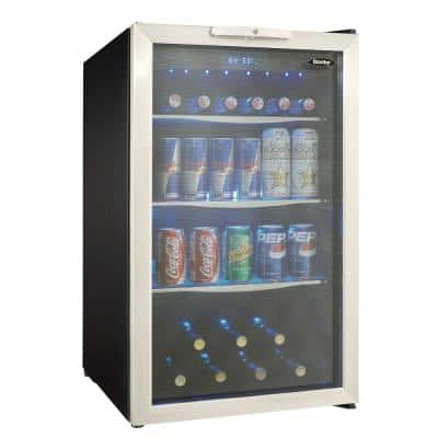 19 in. 124-Can Free-Standing Beverage Cooler