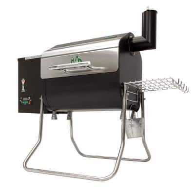 Davy Crockett Wifi Pellet Electric Grill and Grilling Pellets in Stainless Steel