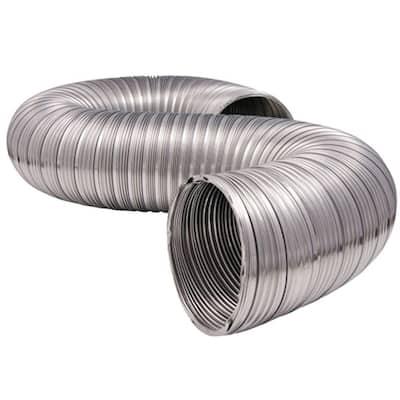 4 in. x 8 ft. Heavy-Duty Semi-Rigid Aluminum Duct