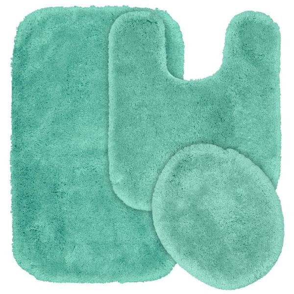 Garland Rug Finest Luxury Sea Foam 3 Piece Washable Bathroom Rug Set Ba130w3p02i6 The Home Depot