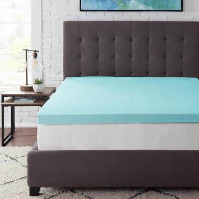 3 in. Gel Infused Memory Foam Queen Mattress Topper