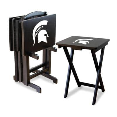 Michigan State TV Trays with Stand