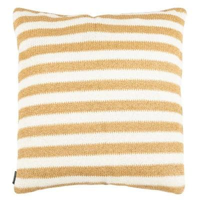 Glenna White/Yellow Square Outdoor Throw Pillow