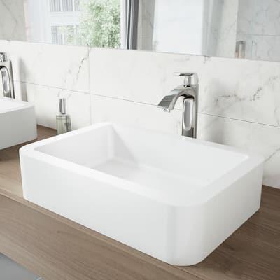 Linus Single-Handle Vessel Sink Faucet in Chrome