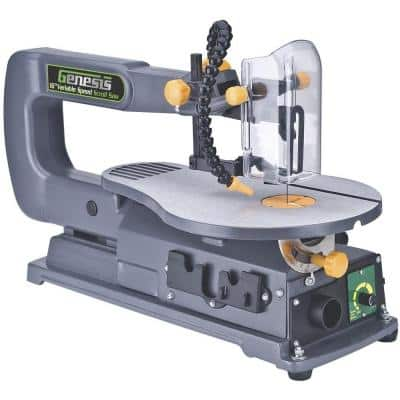 1.2-Amp 16 in. Variable Speed Scroll Saw with Quick-Change System, Dust Blower, and Die-Cast Tilt Table