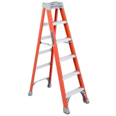 6 ft. Fiberglass Step Ladder (10 ft. Reach) with 300 lbs. Load Capacity, Type IA Duty Rating