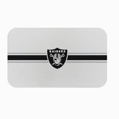 NFL - Las Vegas Raiders Burlap Texture 18 in. x 30 in. Comfort Mat