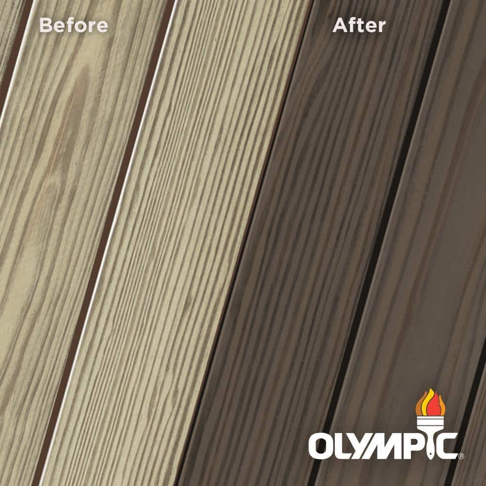 Olympic Elite 3 Gal. Wenge Semi-Solid Exterior Wood Stain and Sealant in One