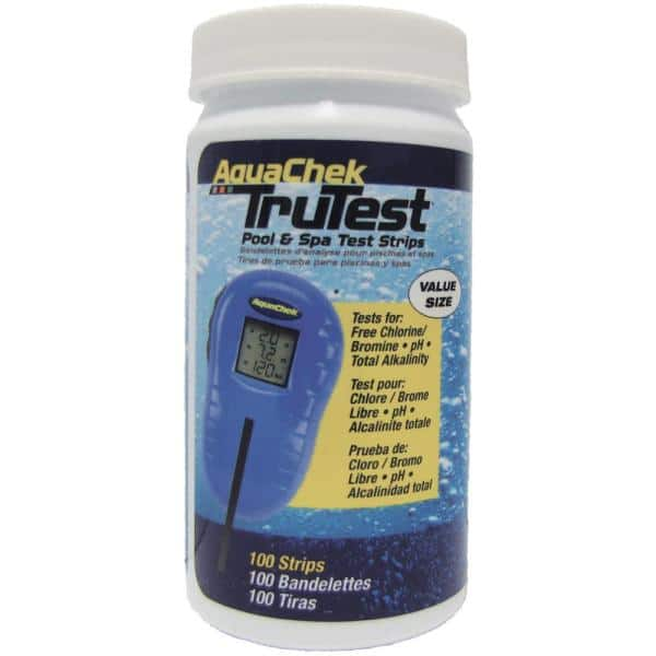 Aquachek Trutest Digital Pool And Spa Test Strips Refills 100 Count 512138 The Home Depot