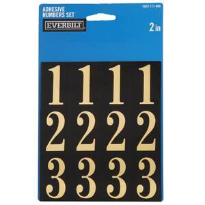 2 in. Self-Adhesive Mylar Number Set
