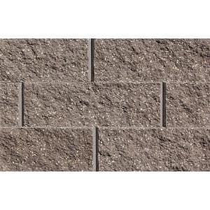 Mini 3 in. H x 8 in. W x 9 in D Brown Concrete Wall Cap (104 Pieces/69 Linear ft. /Pallet)