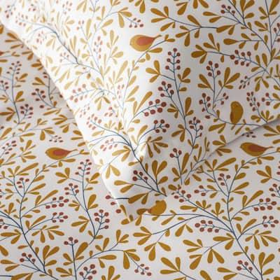 Company Cotton Alexandria Wrinkle-Free Bird Branch Sateen Flat Sheet