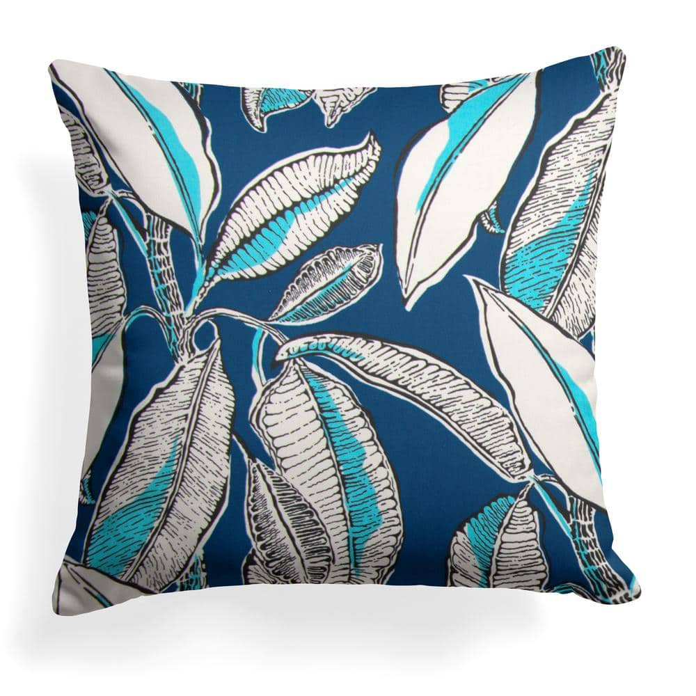 Grouchy Goose Panama Navy Square Outdoor Throw Pillow 20   The Home Depot