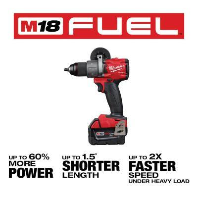 M18 FUEL 18-Volt Lithium-Ion Brushless Cordless Hammer Drill & Impact Driver Combo Kit (2-Tool) W/ M18 5.0Ah Battery