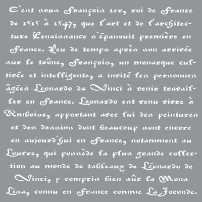 Americana Decor Old French Script Stencil