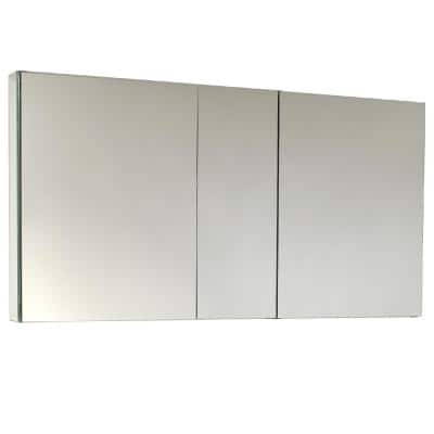 49 in. W x 26 in. H x 5 in. D Frameless Recessed or Surface-Mount 4-Shelf Bathroom Medicine Cabinet