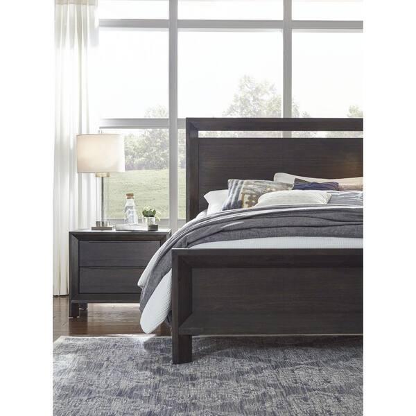Modus Furniture Chloe Dark Wood Basalt, Macys Tribeca Grey Queen Bed