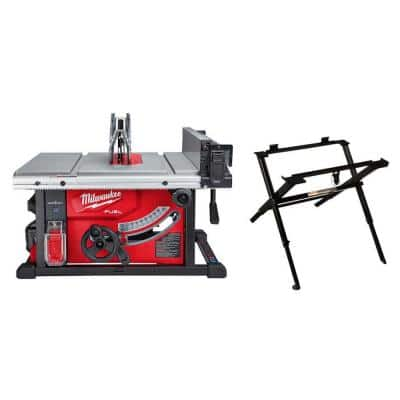 M18 FUEL ONE-KEY 18-Volt Lithium-Ion Brushless Cordless 8-1/4 in. Table Saw Kit with (1) 12.0Ah Battery and Stand