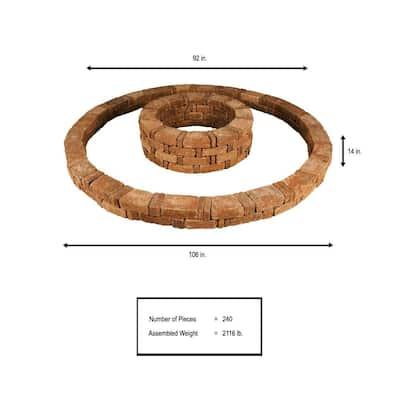 RumbleStone 106 in. x 14 in. Double Tree Ring Kit in Sierra Blend