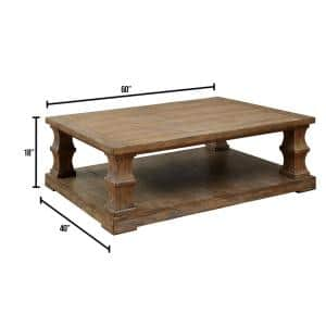 Granard 60 in. Natural Large Rectangle Wood Coffee Table