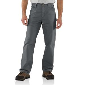 Carhartt Men S 42 In X 30 In Fatigue Cotton Canvas Work Dungaree Pant B151 Fat The Home Depot