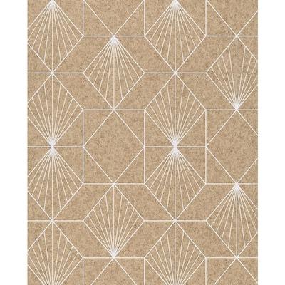 Halcyon Neutral Geometric Wallpaper