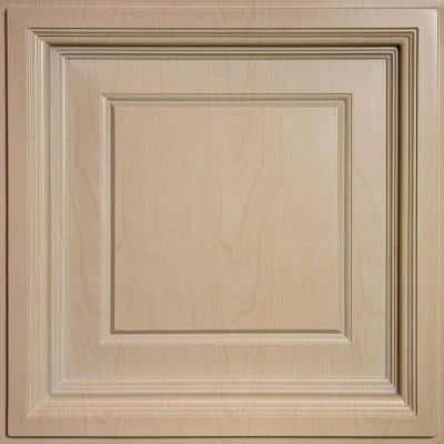 Madison Faux Wood-Sandal 2 ft. x 2 ft. Lay-in Coffered Ceiling Panel (Case of 6)