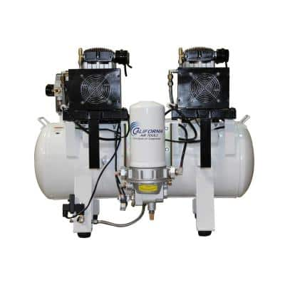 20 Gal. 4.0 HP Ultra-Quiet, Ultra-Dry and Oil-Free Electric Stationary Air Compressor W/Air Dryer in Soundproof Cabinet