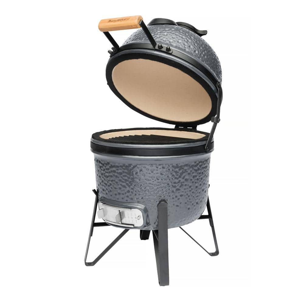 Berghoff 13 In Ceramic Charcoal Grill In Blue 2415703 The Home Depot