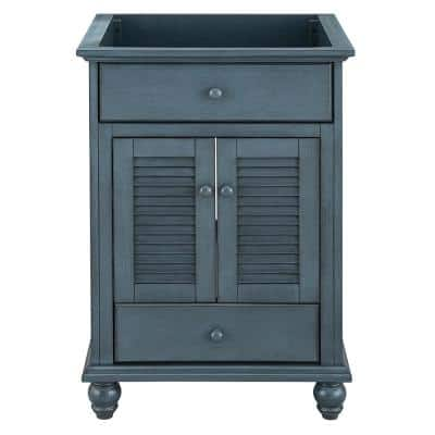 Cottage 24 in. x 21-5/8 in. Vanity Cabinet Only in Harbor Blue