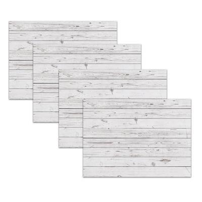 Whitewashed Barn Taupe Polypropylene Placemat Set (4-Pack)