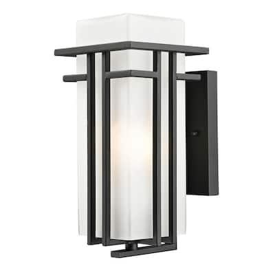 Lawrence 1-Light Black Wall Lantern Sconce