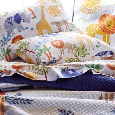 Jungle Animals 200-Thread Count Organic Cotton Percale Sheet Set