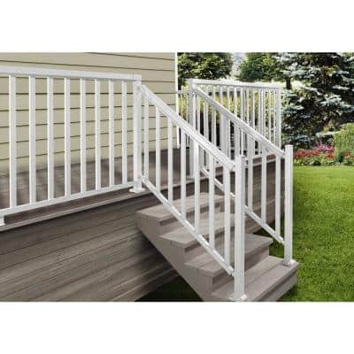 2 in. x 2 in. x 42 in. White Aluminum Stair Post