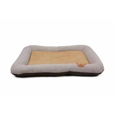 One-Size Grey and Brown Nano-Silver Anti-Bacterial Neutral Carpentry Designer Bed