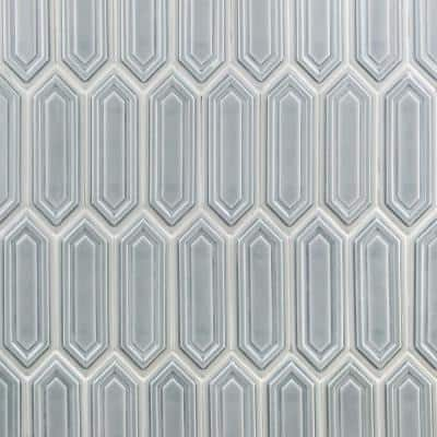 Oracle Sky Hexagon 9-1/2 in.  x 15-1/2 in. 14 mm Glazed Ceramic Mosaic Tile  (1.02 sq. ft.)
