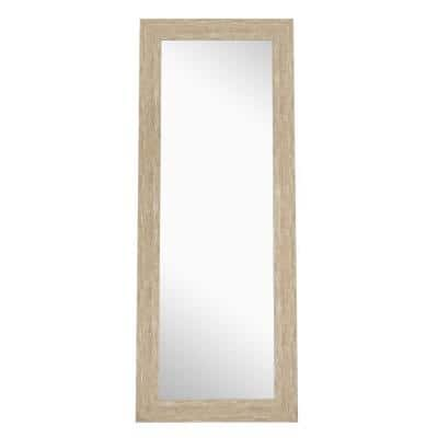 Oversized Natural Wood Beveled Glass Classic Mirror (72 in. H X 28 in. W)