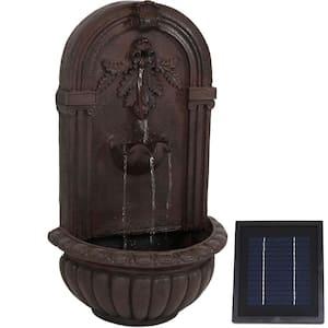 Florence Resin Iron Solar Outdoor Wall Fountain