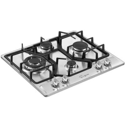 Built-in 24 in. Gas Cooktop - 4 Sealed Burners Cook Tops in Stainless Steel