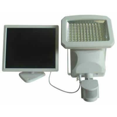 Outdoor 144-LED Solar Powered Motion Activated Security Light in White