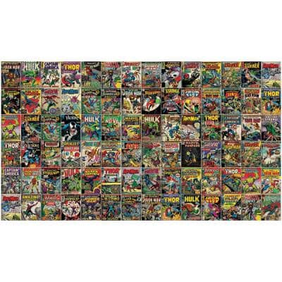 Marvel Comic Cover Yellow Vinyl Peelable Roll (Covers 63 sq. ft.)