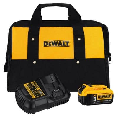 20V Max 5.0Ah Battery Pack with Charger, Bag and Accessories