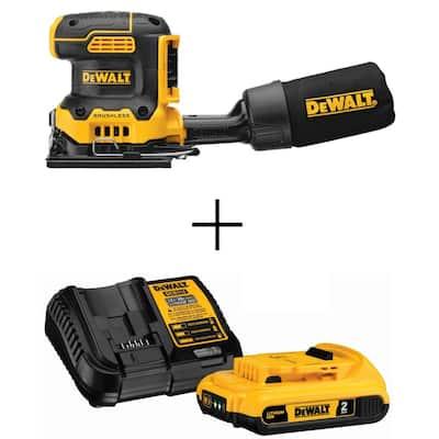 DeWalt 20V Max XR Brushless Cordless Sander + Battery Pack with Charger