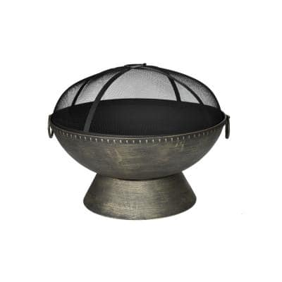 Aramis 30 in. Wood Fire Pit with Poker