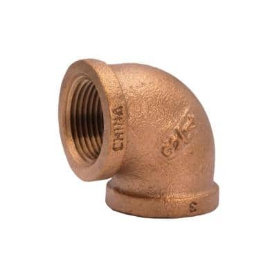 3/4 in. FIP 90-Degree Red Brass Elbow Fitting