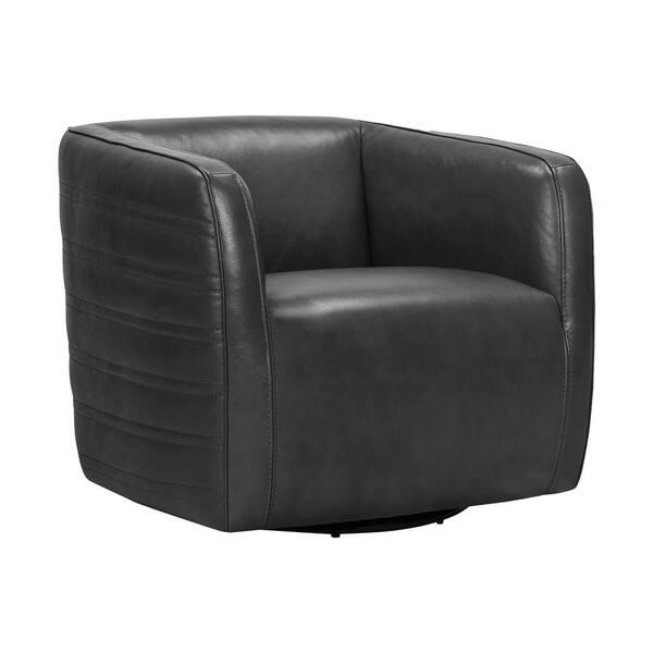 Armen Living Melanie Swivel Leather, Modern Swivel Bucket Chairs