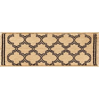 Stratford Garden Gate Ivory 9 in. x 33 in. Stair Tread Cover